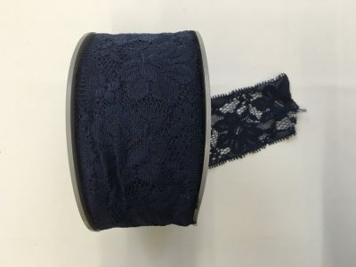 Elastic Lace Navy 027