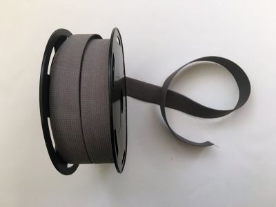 "1"" Elastic Ribbon Grey"
