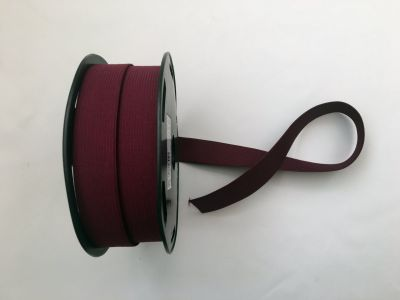 "1"" Elastic Ribbon Burgundy"