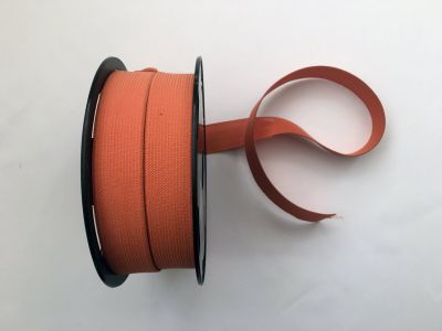 "1"" Elastic Ribbon Orange"
