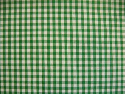 "1/4"" Gingham Check Polycotton Emerald Green"