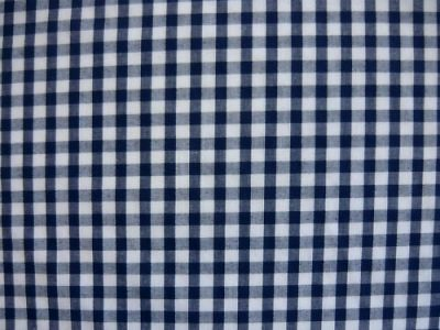 "1/4"" Gingham Check Polycotton Navy Blue"