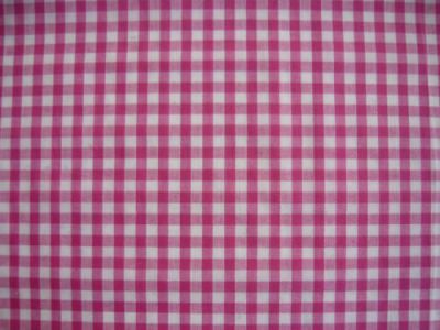 "1/4"" Gingham Check Polycotton Pink"