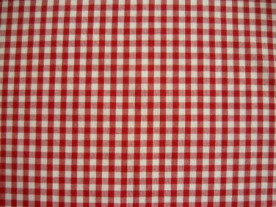 "1/4"" Gingham Check Polycotton Red"