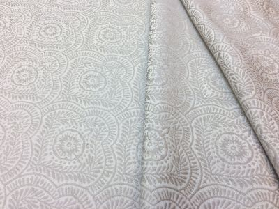 Floral Laurel Jacquard Natural A182