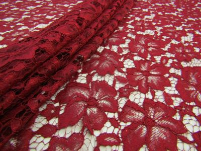 Floral Shimmer Lace Wine Tex Ex 1659