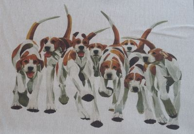 Voyage Cushion Panel Fox Hounds