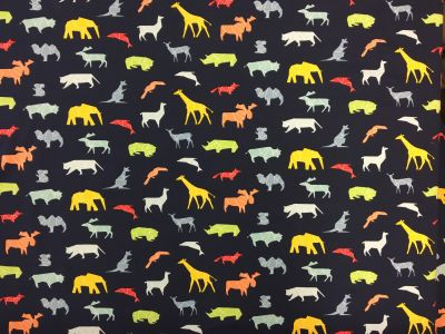 Geo Animals Navy Blue A202