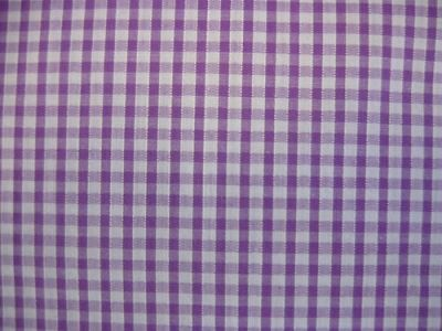 "1/8"" Gingham Check Polycotton Lilac"