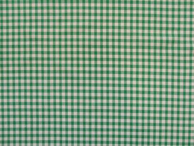"1/4"" Gingham Check 100% Cotton Green"