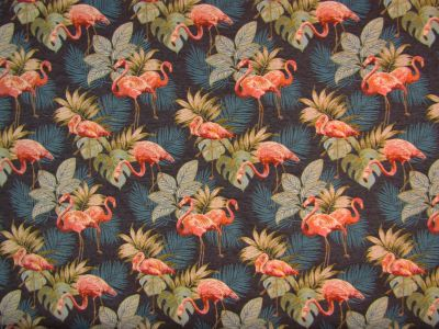 Tropical Flamingo Blue Multi H118