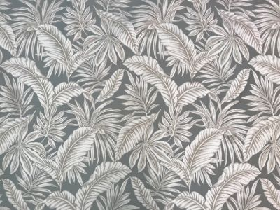 Tropical Palm Leaves Silver H148