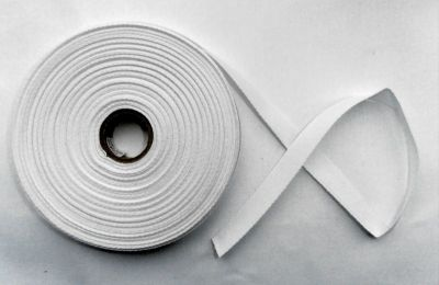 "White 1/2"" Cotton Tape"