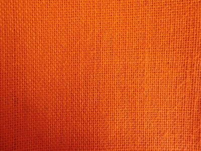 Bright Orange Hessian Fabric