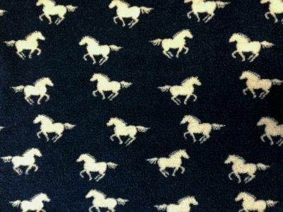 Horse Sherpa Fleece Navy