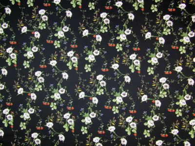 Stretch Cotton Flower Stems Black/ Multi I80