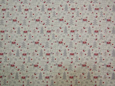Scandi Christmas Characters Red Ivory Grey C317