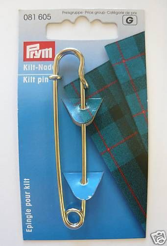 Prym Traditional Metal Kilt Pin Silver