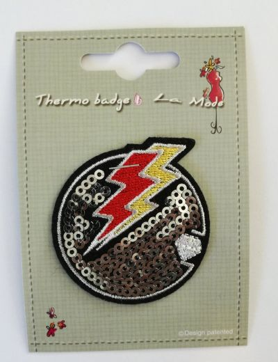 Sequin Lightning Patch