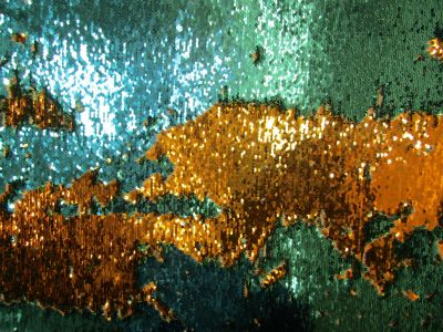 Two Way Mermaid Sequin Turquoise Gold I40