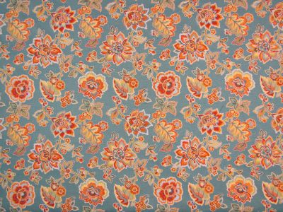 New Delhi Floral Jacquard Aqua Blue Multi H101