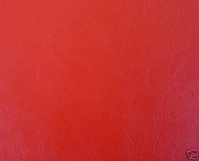 Red Leatherette Fabric