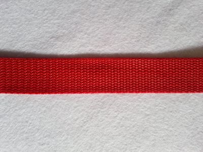"Bag Strap Webbing Tape 1"" Red"