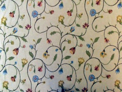 ST Taupe Floral Tapestry D6 SH1202
