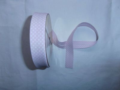 Baby Pink Spotty Bias Binding