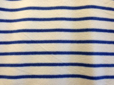Navy Stripe Polar Fleece