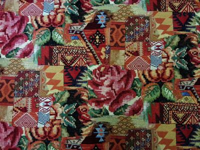 Aztec Rose Tapestry Red T131