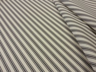 Margate Ticking Stripe Black T147