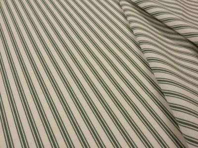 Margate Ticking Stripe Green T148