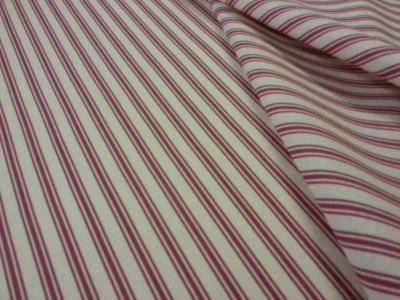 Margate Ticking Stripe Raspberry T149