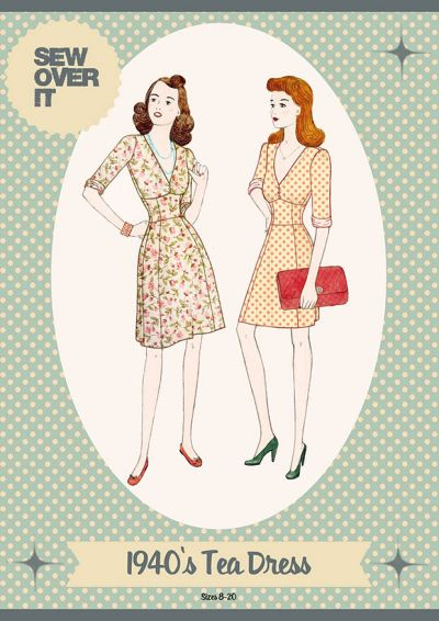 Sew Over It 1940's Tea Dress Sewing Pattern