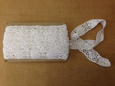 Tex Ex 1171 Heavy Crochet Lace White