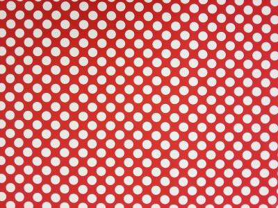 Large Spot Twill Red White Tex Ex 1383