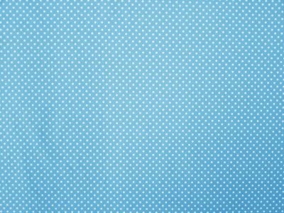 Small Spot Twill Turquoise White Tex Ex 1386