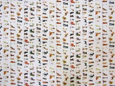 Doggies Stretch Peachskin White Multi Tex Ex 1509