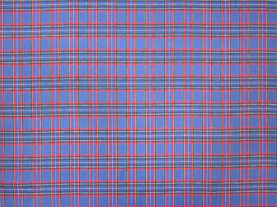 Brushed Cotton Check Blue Tex Ex 1541