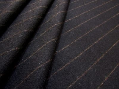 Striped Melton Black Brown Tex Ex 1552