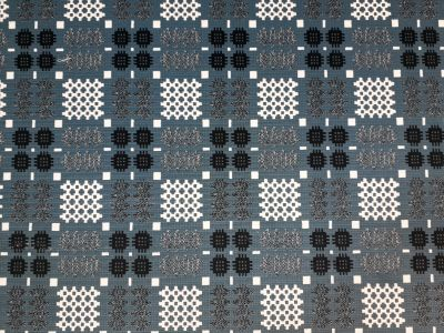 Welsh Blanket Velvet Blue Tex Ex 1804