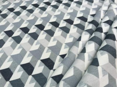 3D Stairs FR Chenille Black Grey Ivory Tex ex 1840
