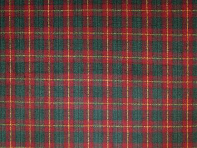 Wow Tartan Red Wool Touch 1894