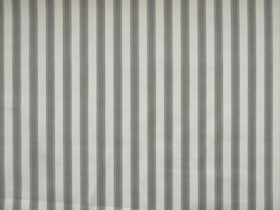 Marson Ticking Stripe Fabric Grey
