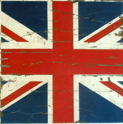 Vintage British Flag Union Jack Velvet Cushion Panel