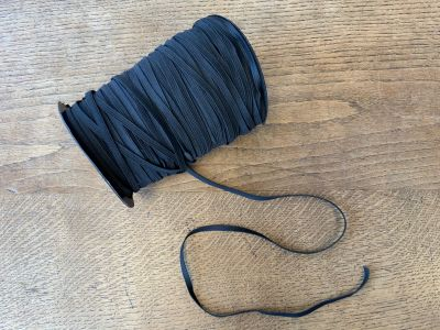 6mm Black Elastic Stretch Flat Trim Haberdashery