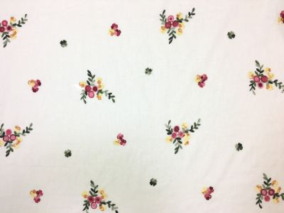 Embroidered Posy White Tex Ex 1957