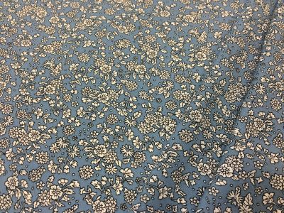 Ditsy Floral Crinkle Viscose Cornflower Blue Tex Ex 1959