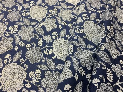 Henna Floral Linen Mix Denim Tex Ex 1963